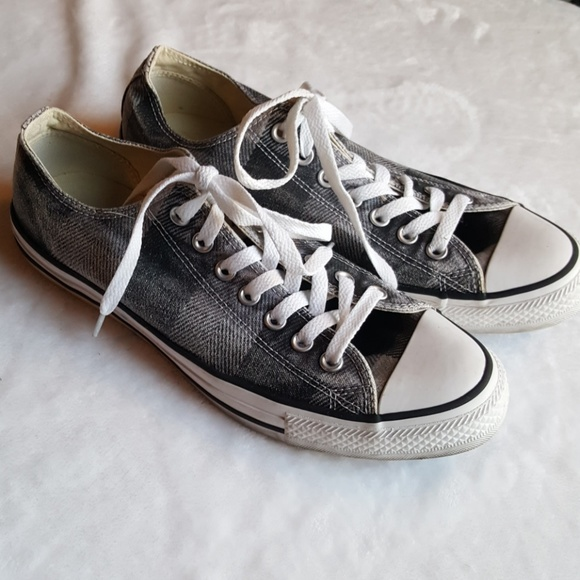 72902d0c984 Converse Shoes   All Star Plaid Grey Chuck Taylor Sneakers   Poshmark